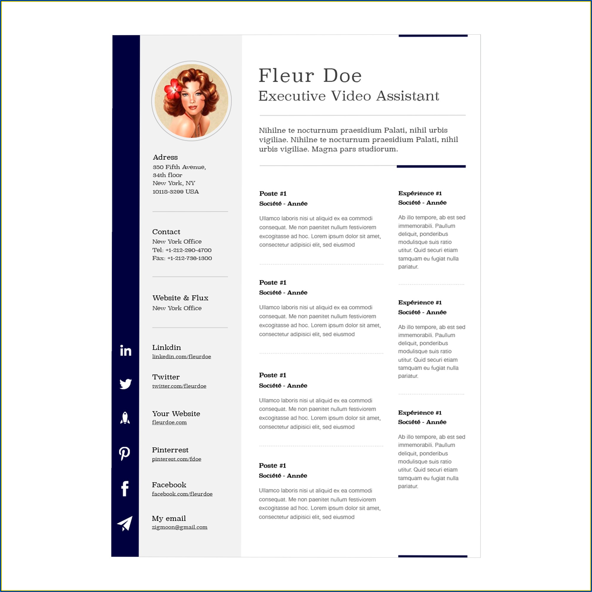 Resume Templates Free Mac Word