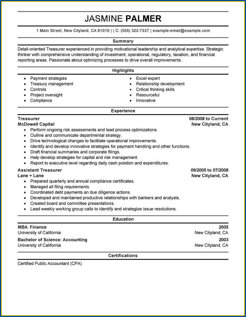 Resume Writing For Finance Professionals