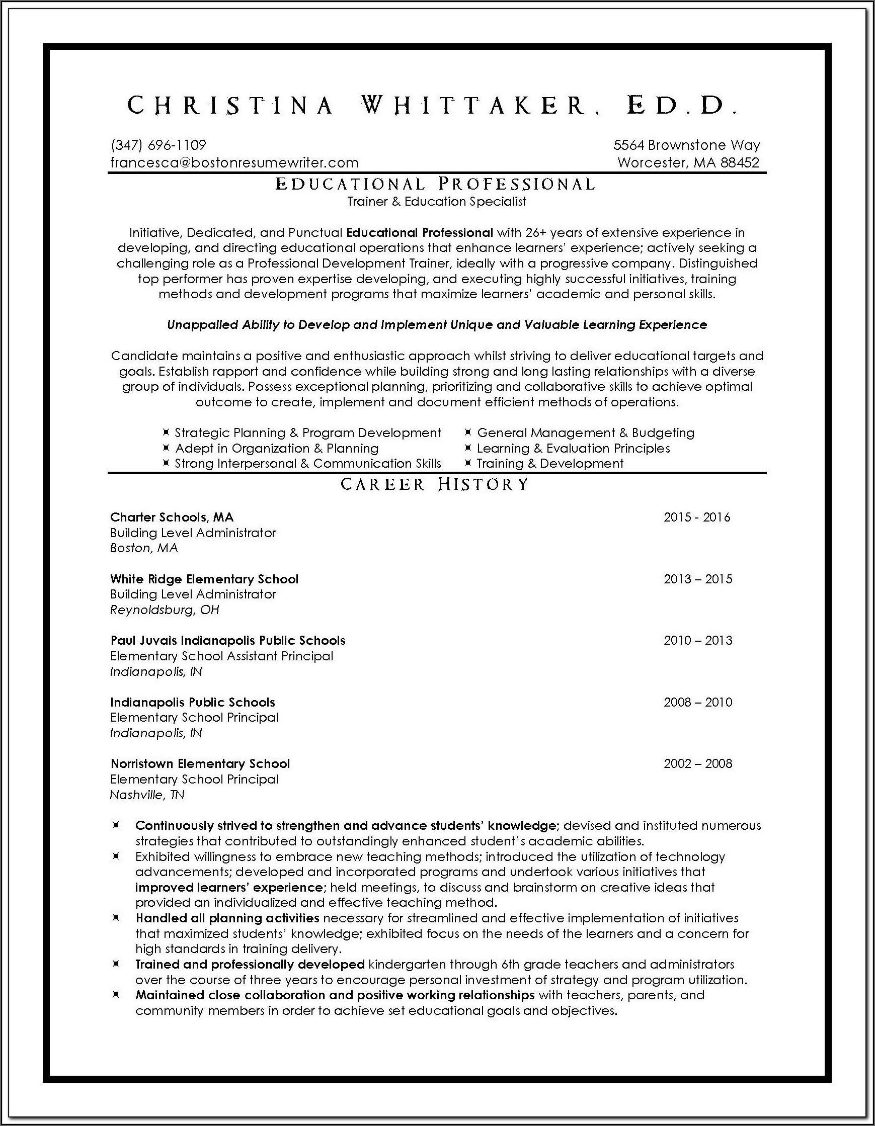 Resume Writing Services (boston Ma Area)
