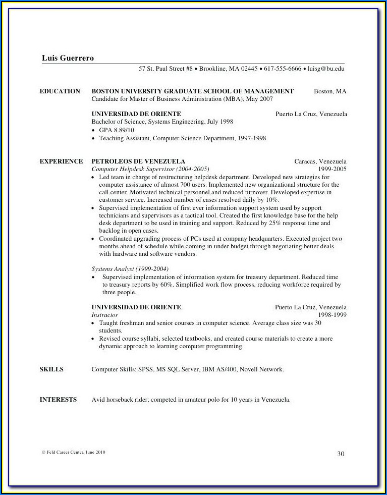 Resume Writing Services San Francisco Bay Area