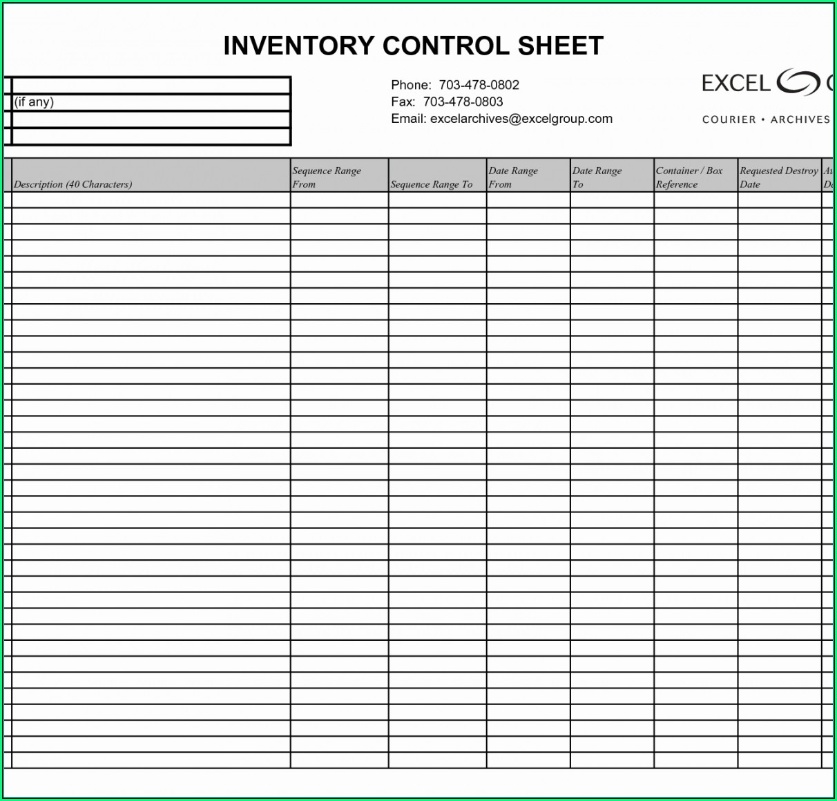 Retail Inventory Tracker Excel Template