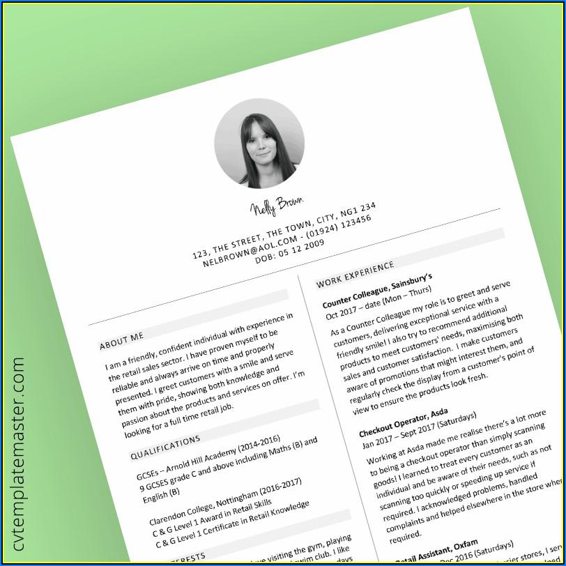 Retail Resume Template Free