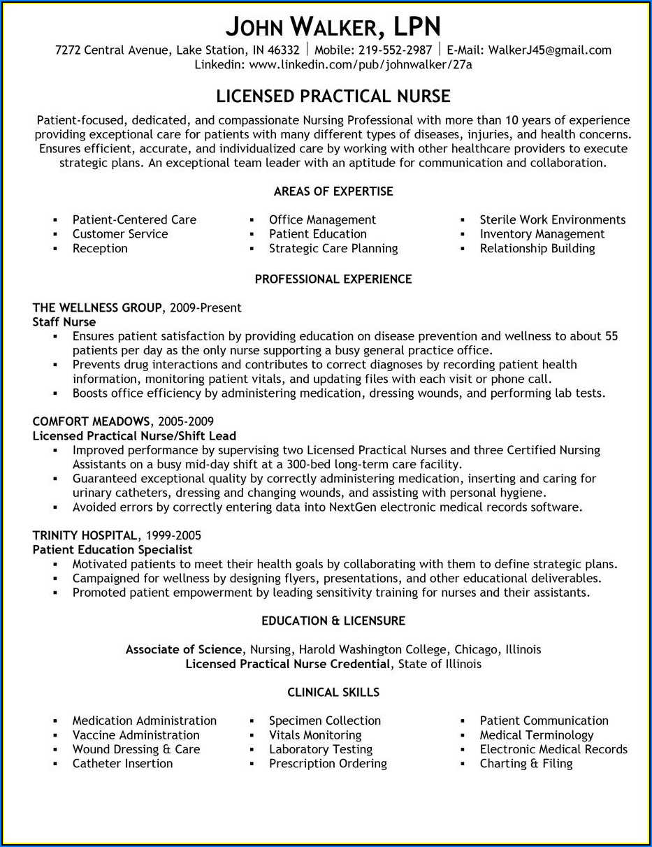 Sample Lpn Resumes