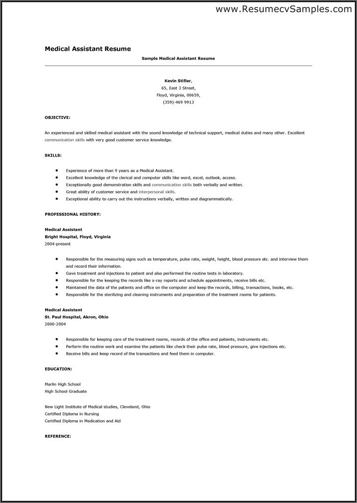 Sample Of Warehouse Resume Objective