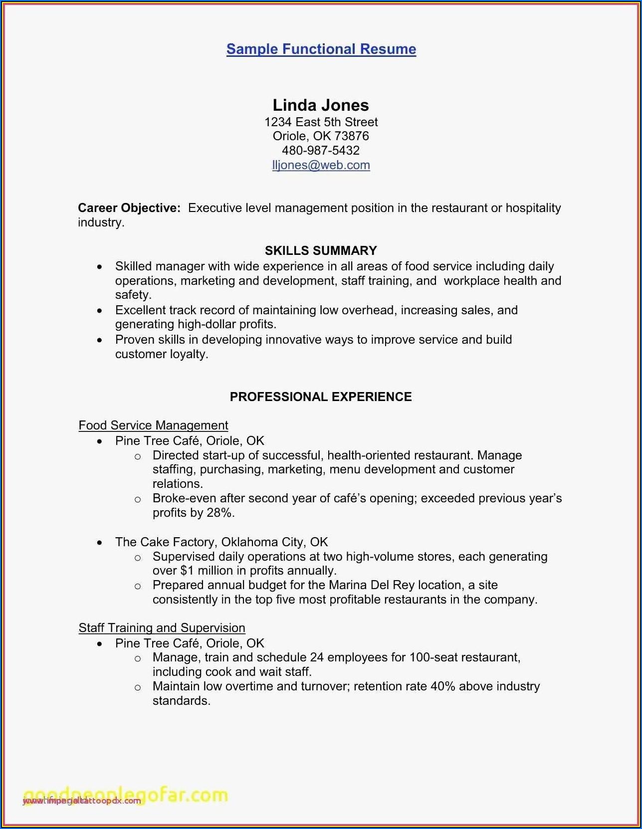Sample Of Warehouse Resume