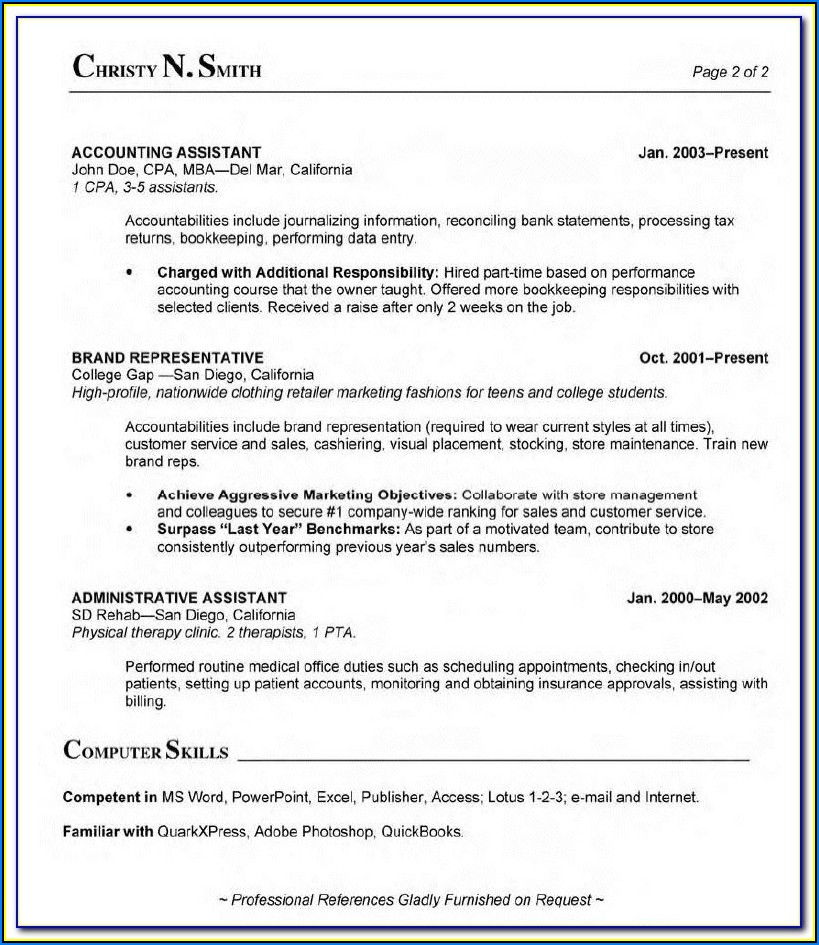 Sample Resume For Medical Insurance Billing And Coding
