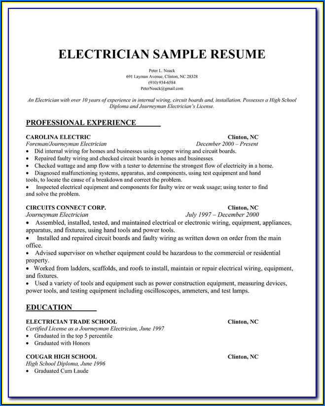 Sample Resumes For Accountants