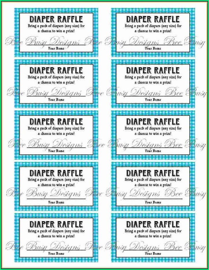 Sample Template For Raffle Tickets