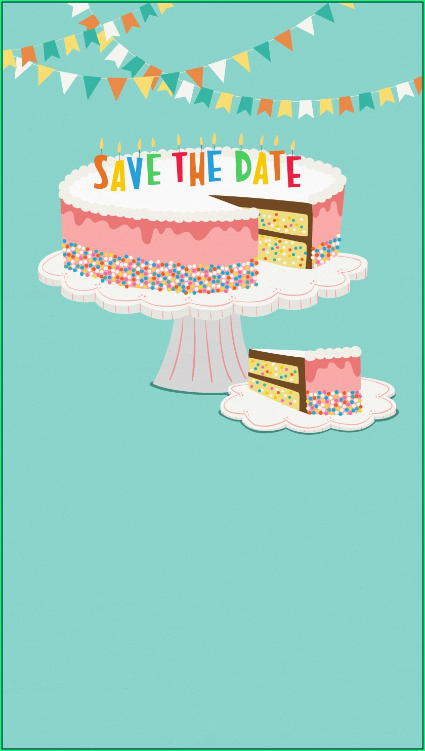 Save The Date Birthday Templates Free