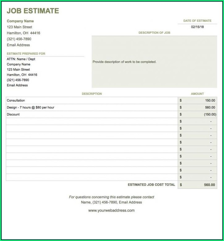 Self Employed Invoice Template Google Docs