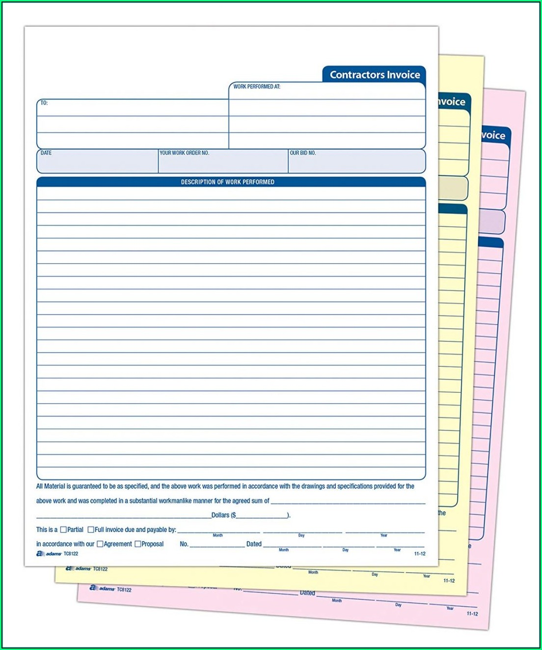 Self Employed Invoice Template Uk Word