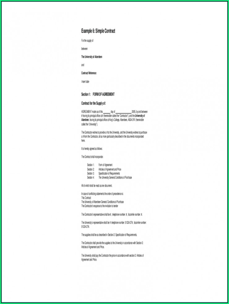 Service Agreement Contract Template Word