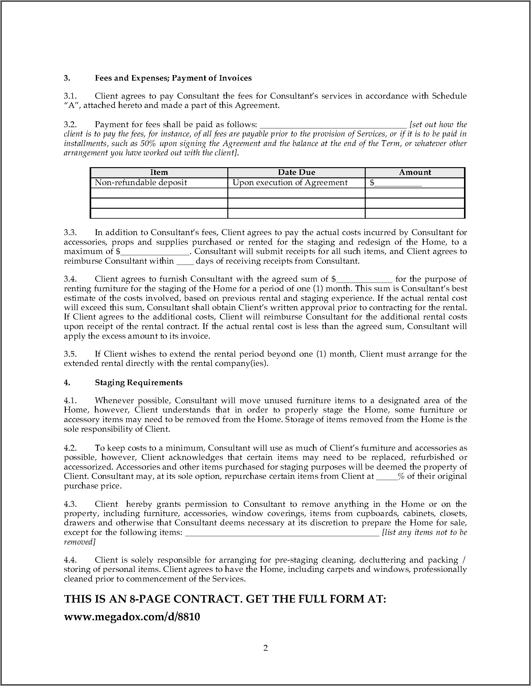 Service Contract Template Word Free
