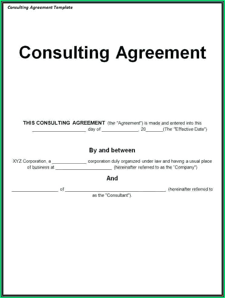 Simple Consulting Agreement Template Uk