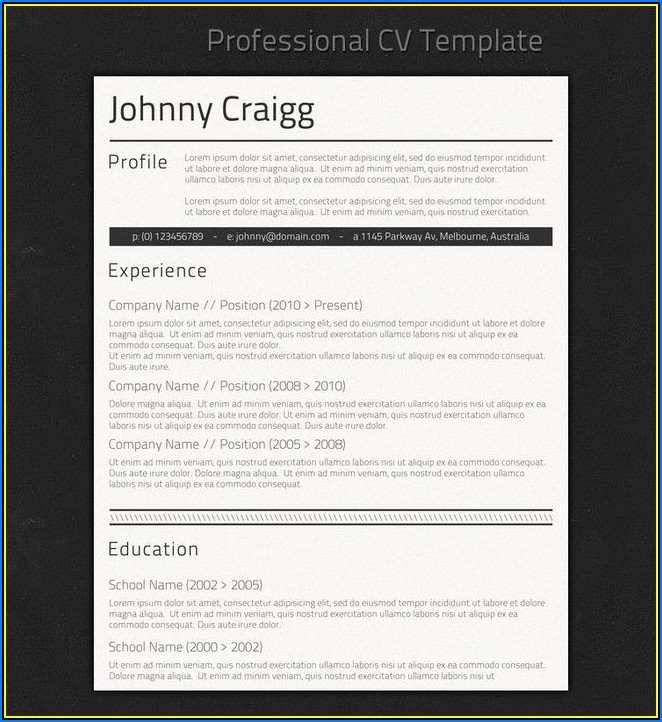 Simple Job Resume Format Download