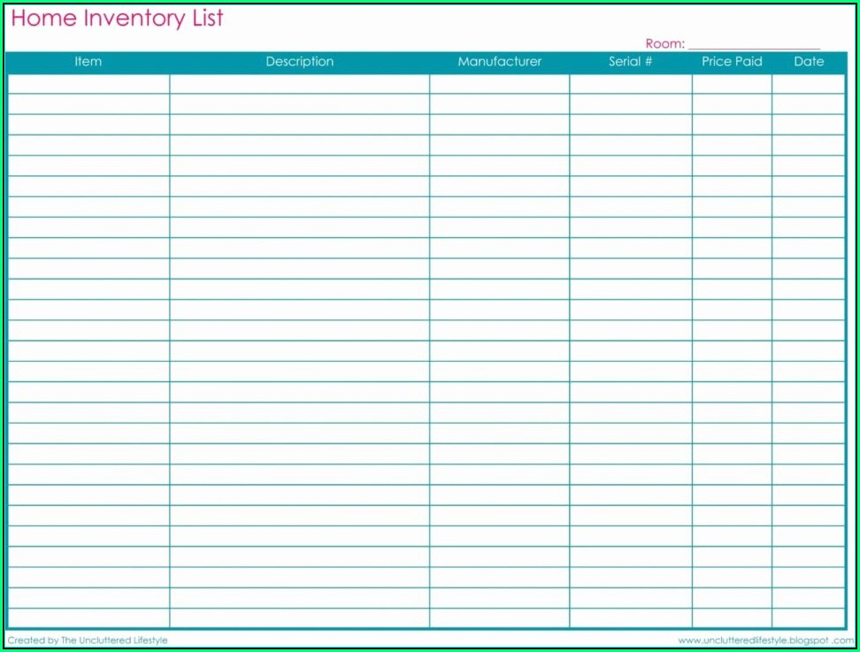 Small Business Inventory Spreadsheet Template Pdf