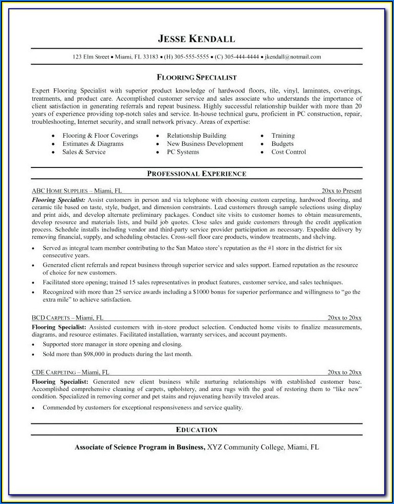 Solar Installer Resume Sample