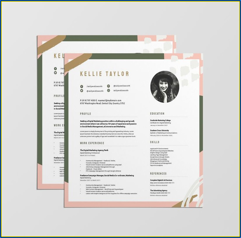 Stand Out Resume Templates Free