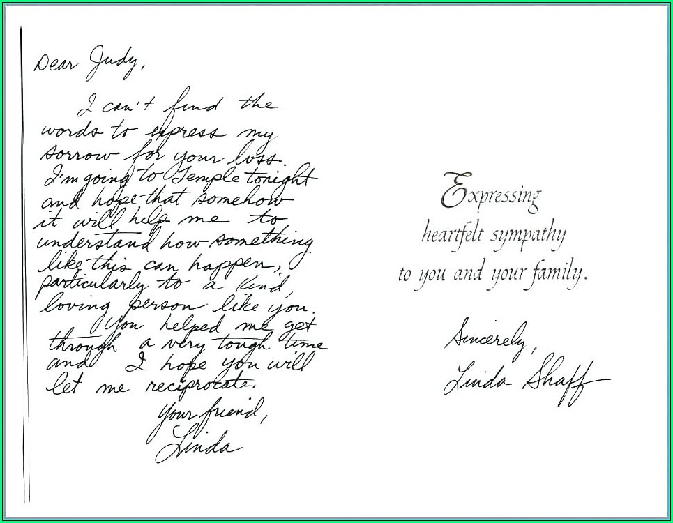Sympathy Card Template Word