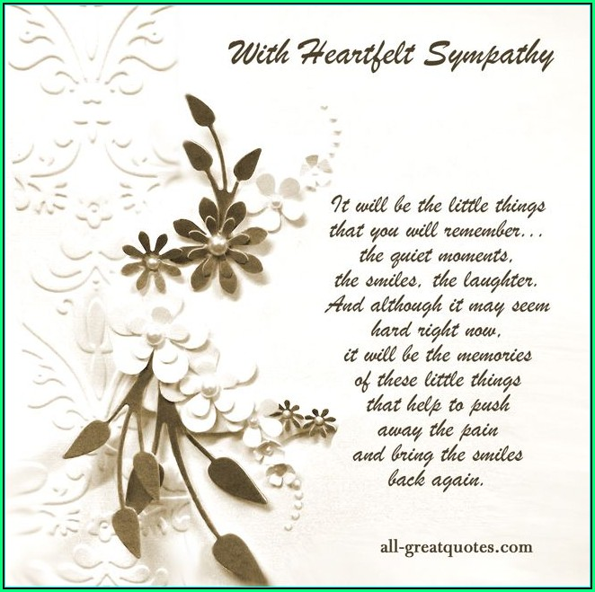 Sympathy Card Templates Free Download