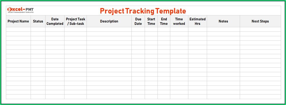 Task Management Excel Template