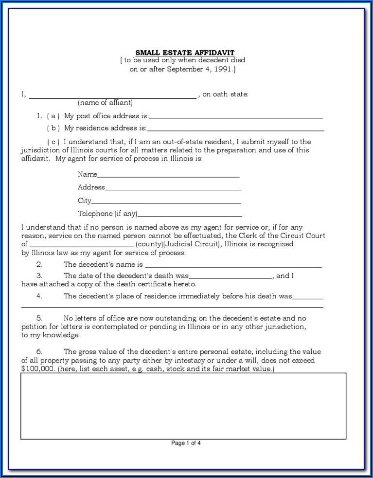 Texas Small Estate Affidavit Form Harris County