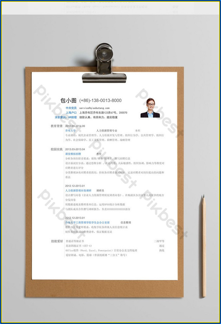 Traditional Cv Template Word Free Download
