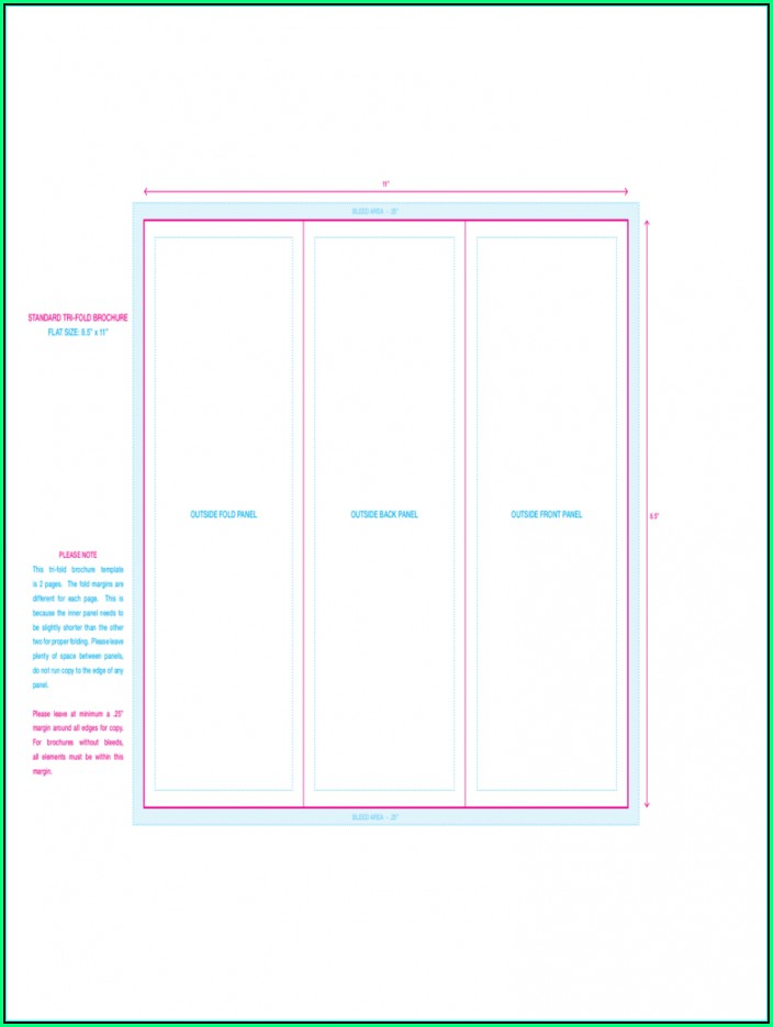 Tri Fold Pamphlet Template Free