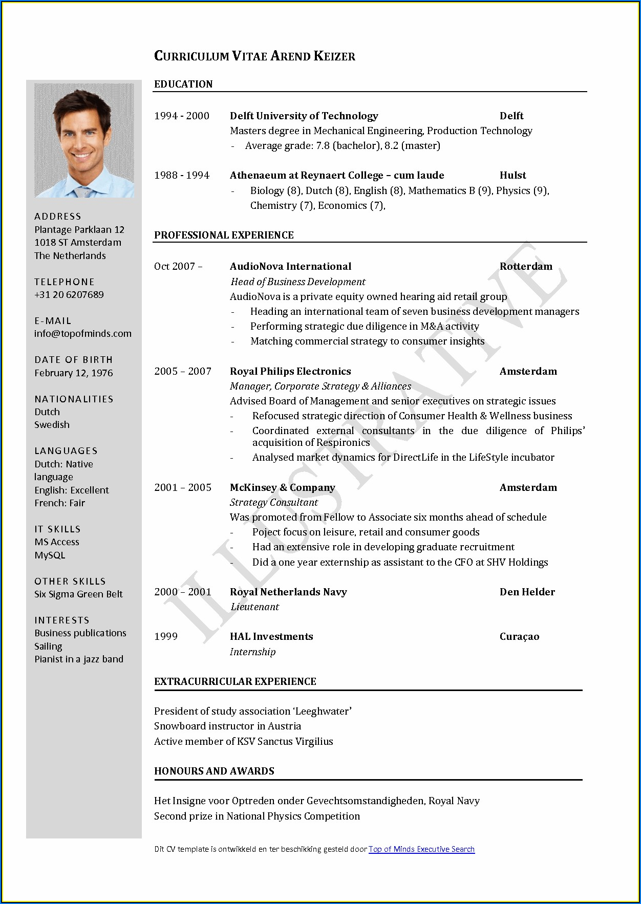 Update Resume Format For Experienced