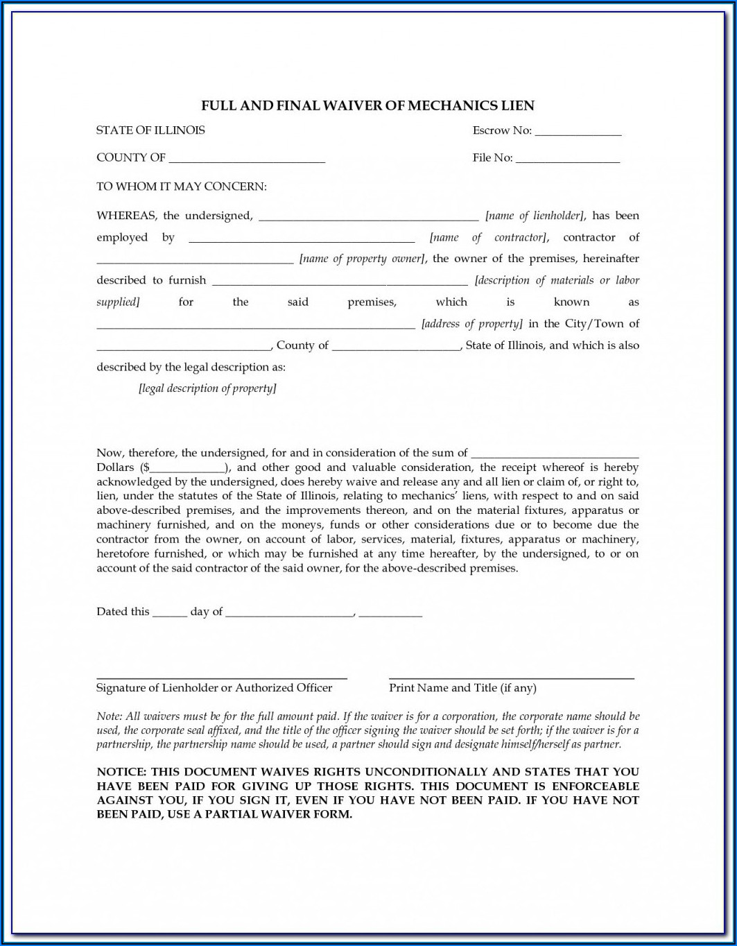 Va Dmv Mechanics Lien Form
