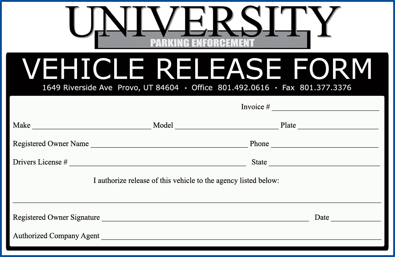 Vehicle Lien Release Form Texas