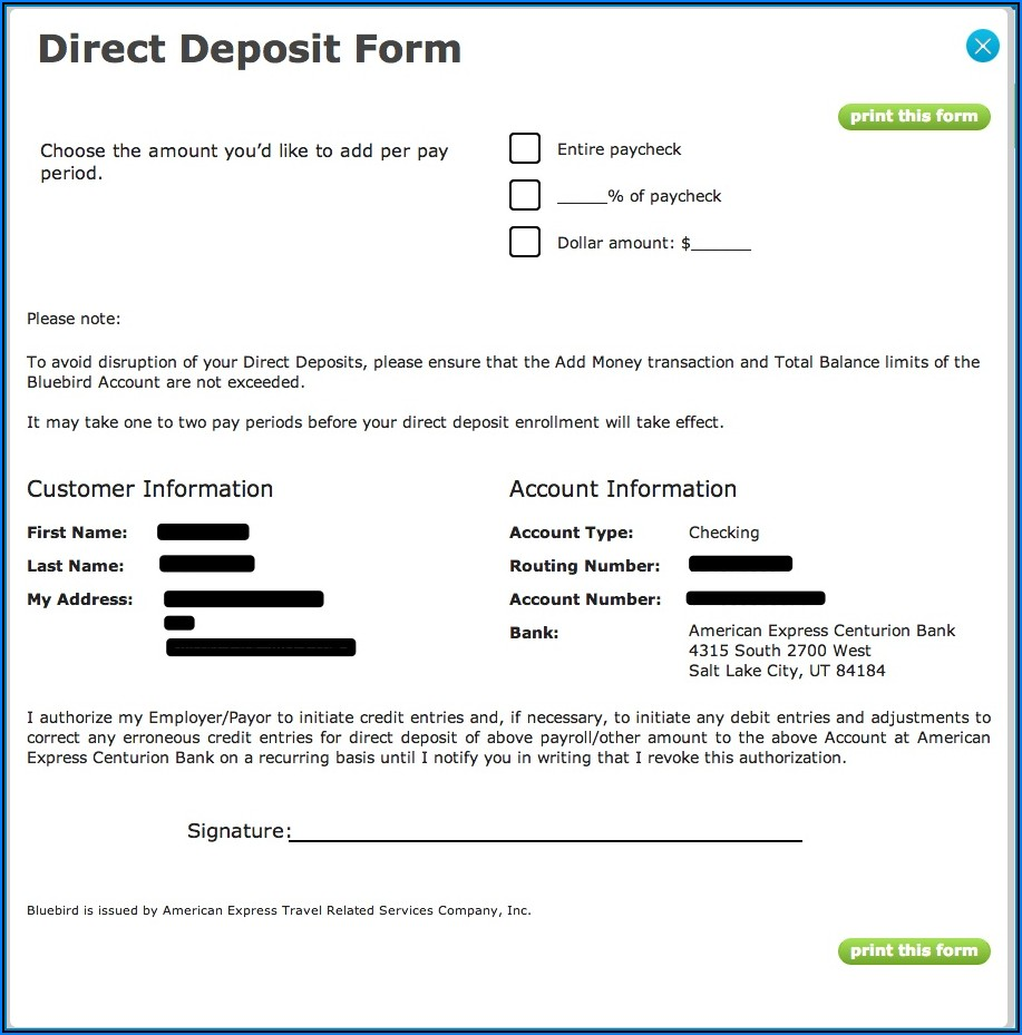 Walmart Card Direct Deposit Form