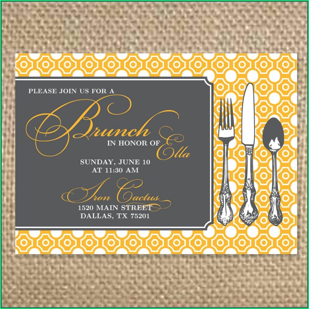 Wedding Brunch Invitation Templates