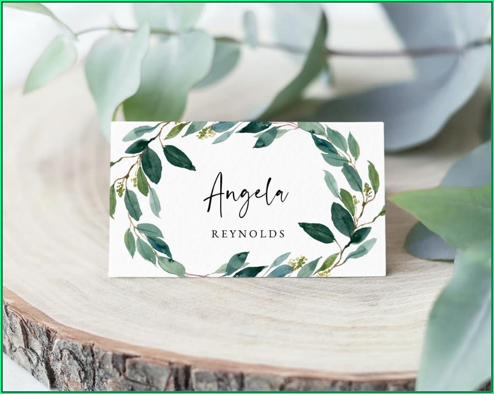 Wedding Seating Card Template