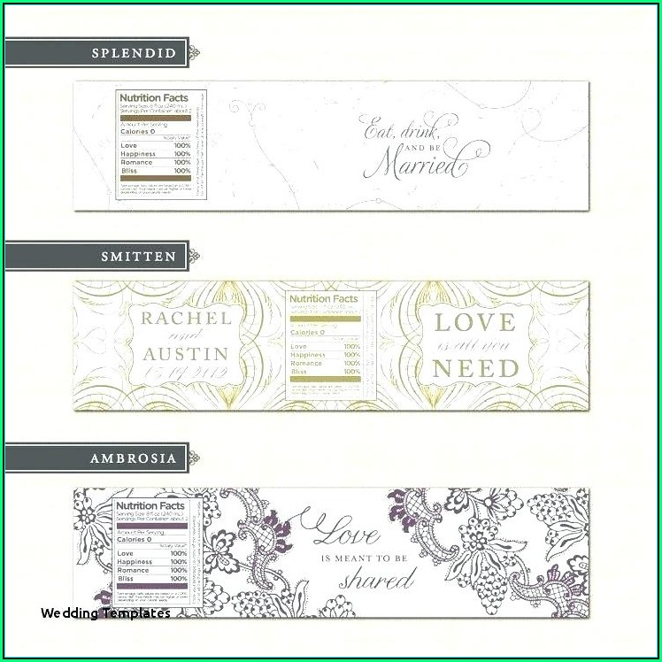Wedding Sticker Label Templates