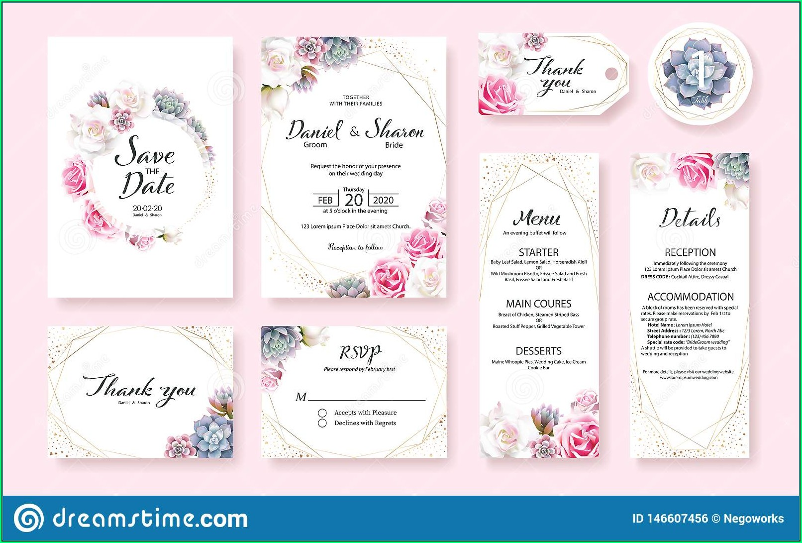 Wedding Table Label Templates