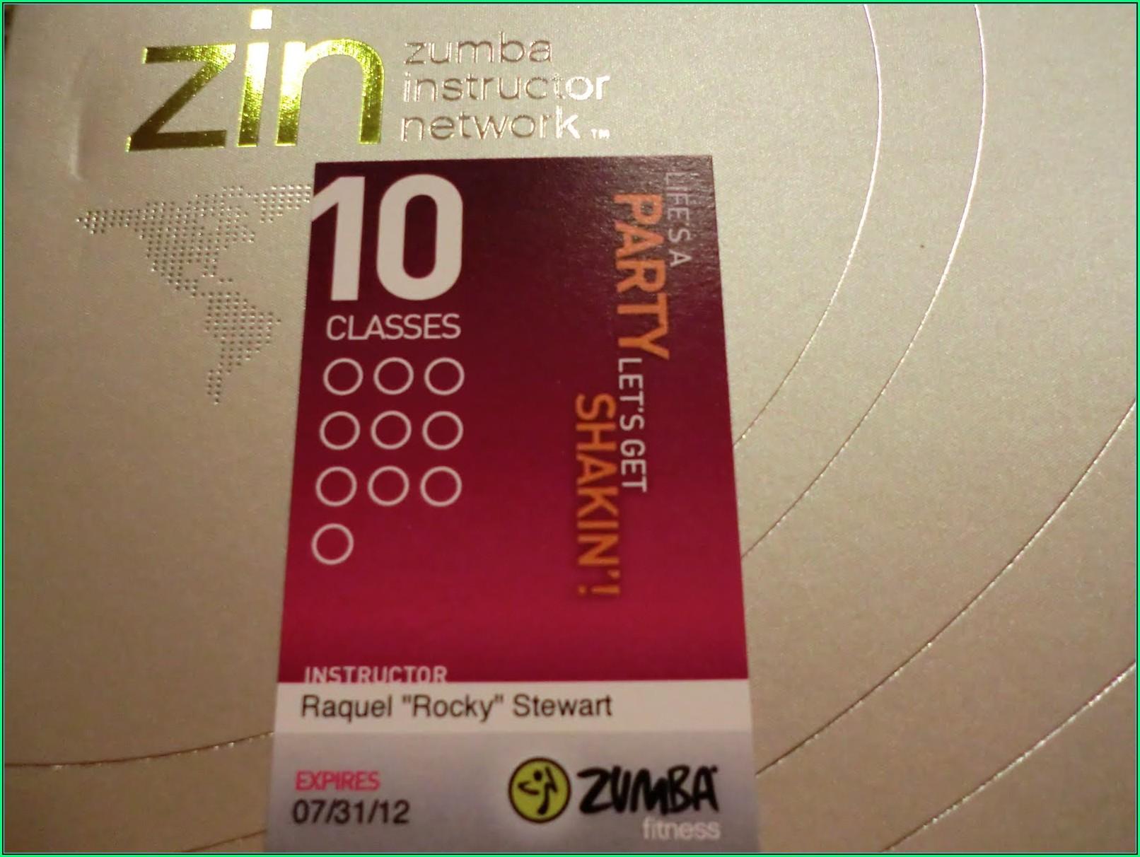 Zumba Punch Card Template Free