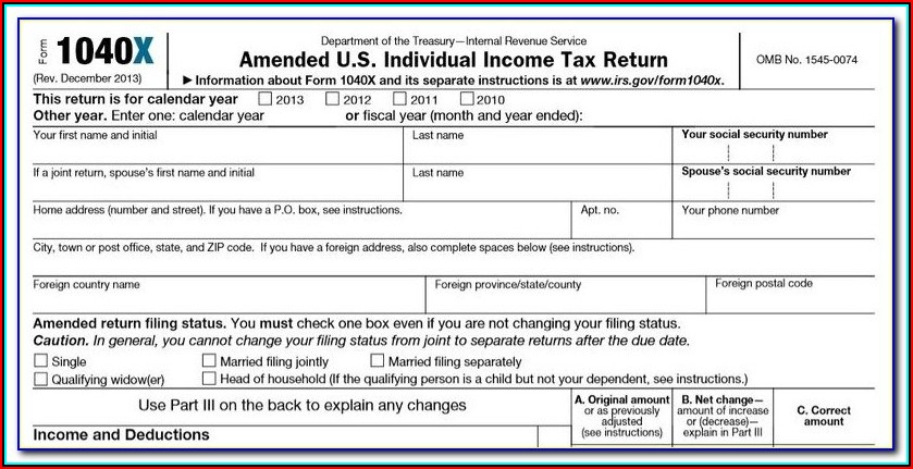 1040x Fillable Form 2016