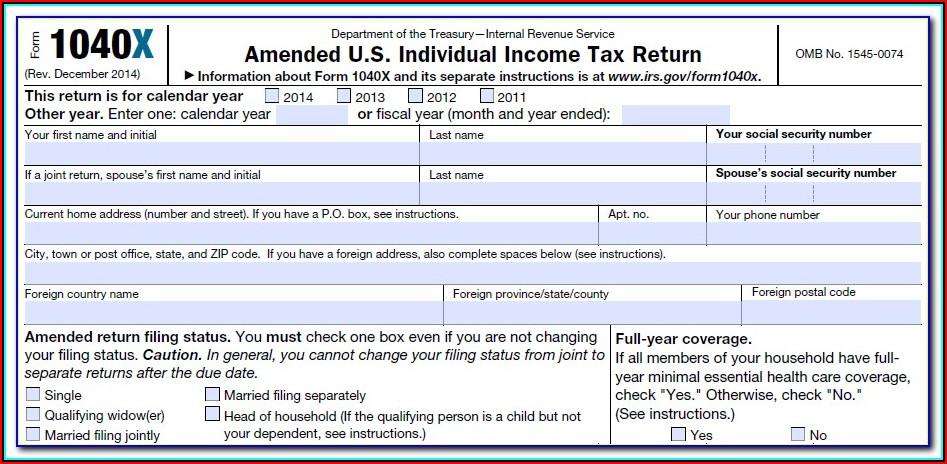 1040x Tax Form Online