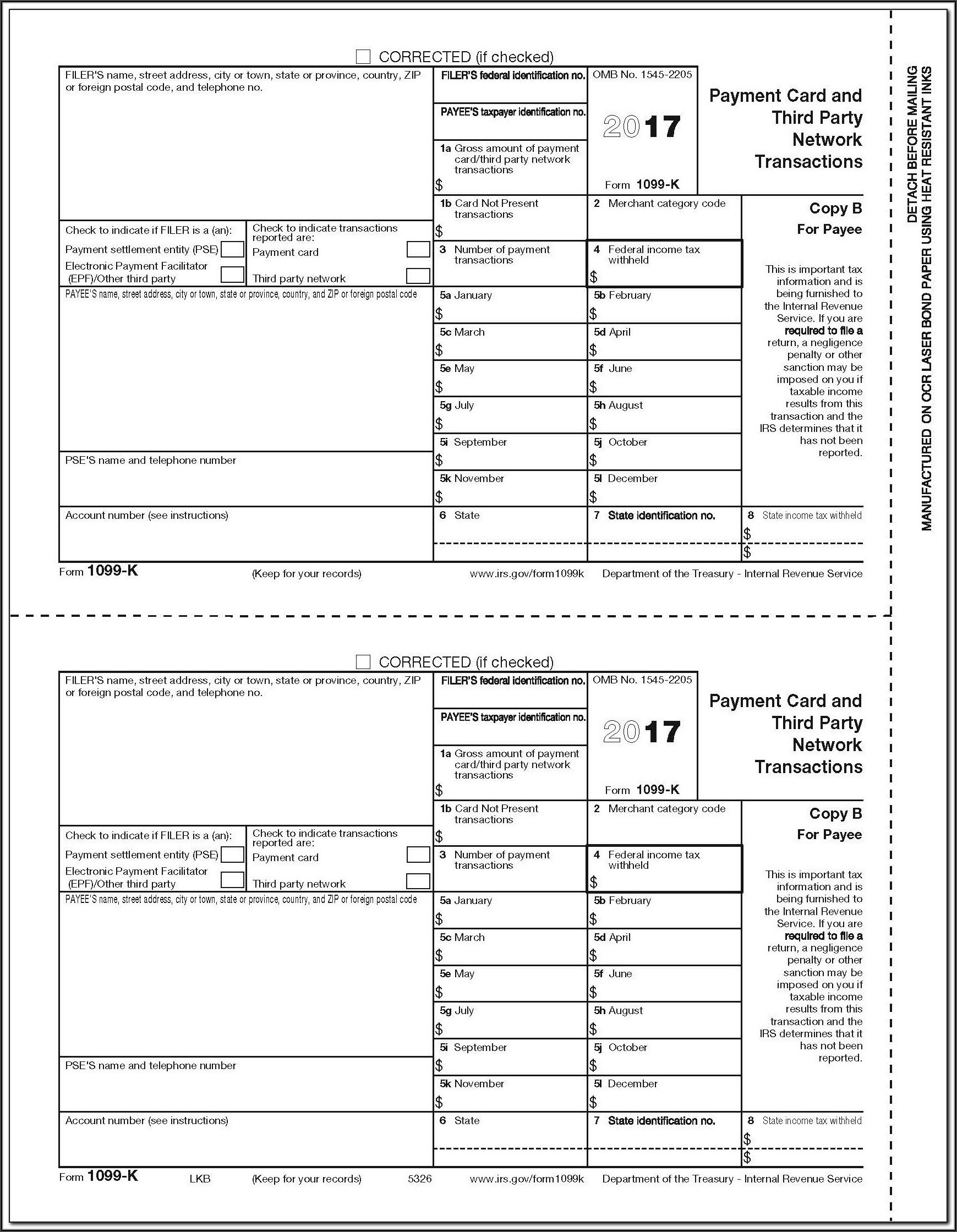 1099 Misc 2017 Fillable Form Free