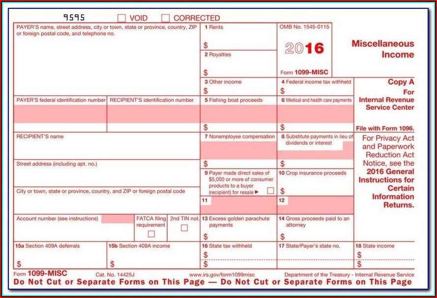 1099 Misc Fillable Form 2017