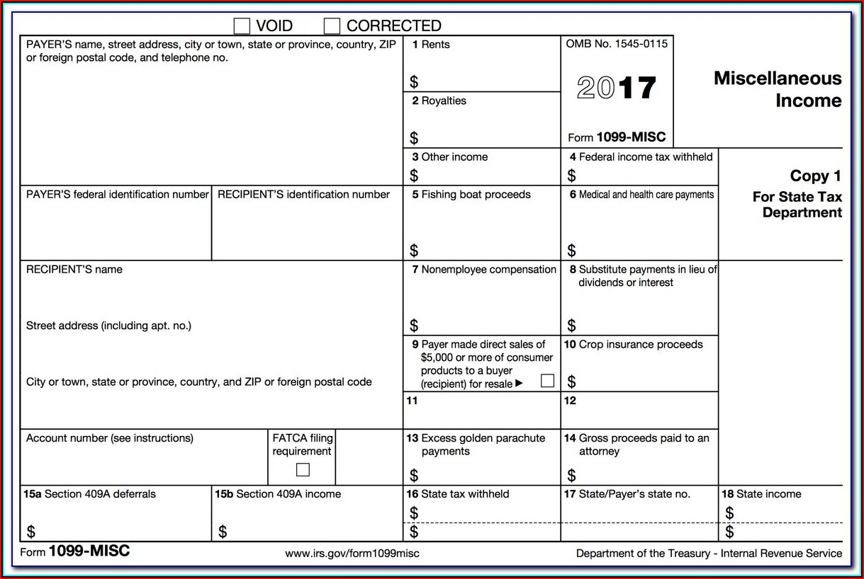 1099 Misc Fillable Form Free