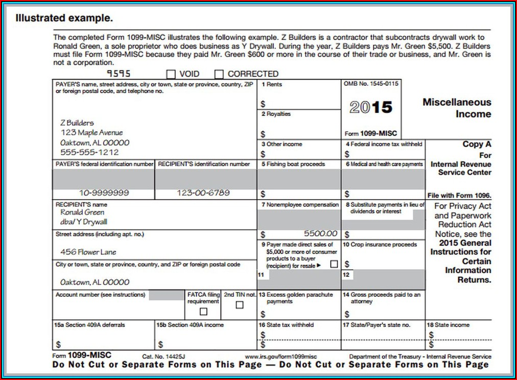 1099 Wages Form