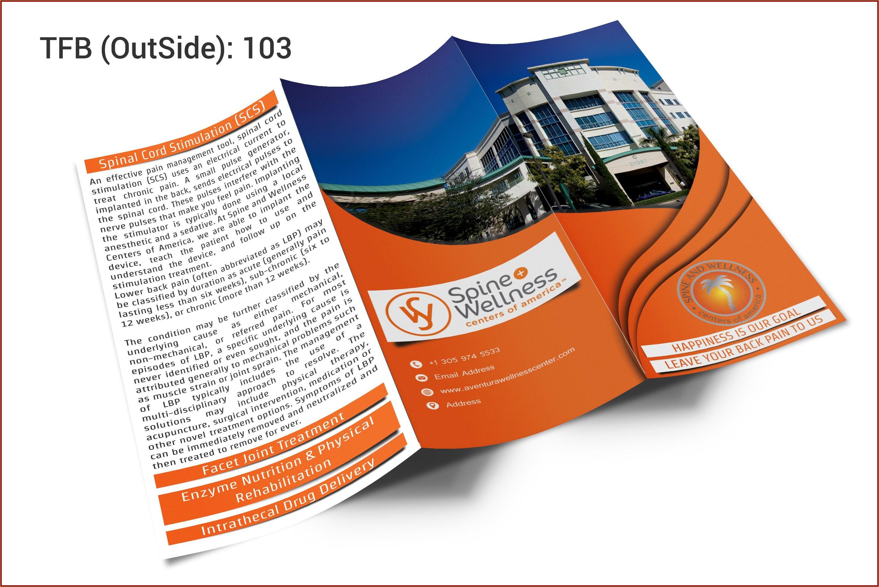 11x17 Brochure Design Template