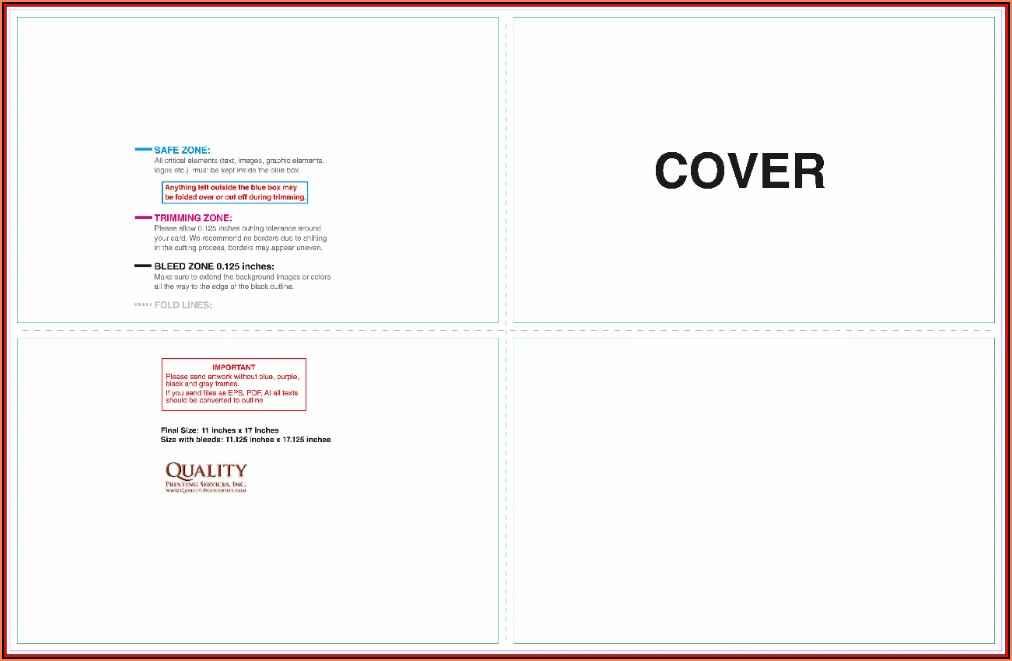 11x17 Brochure Template Indesign