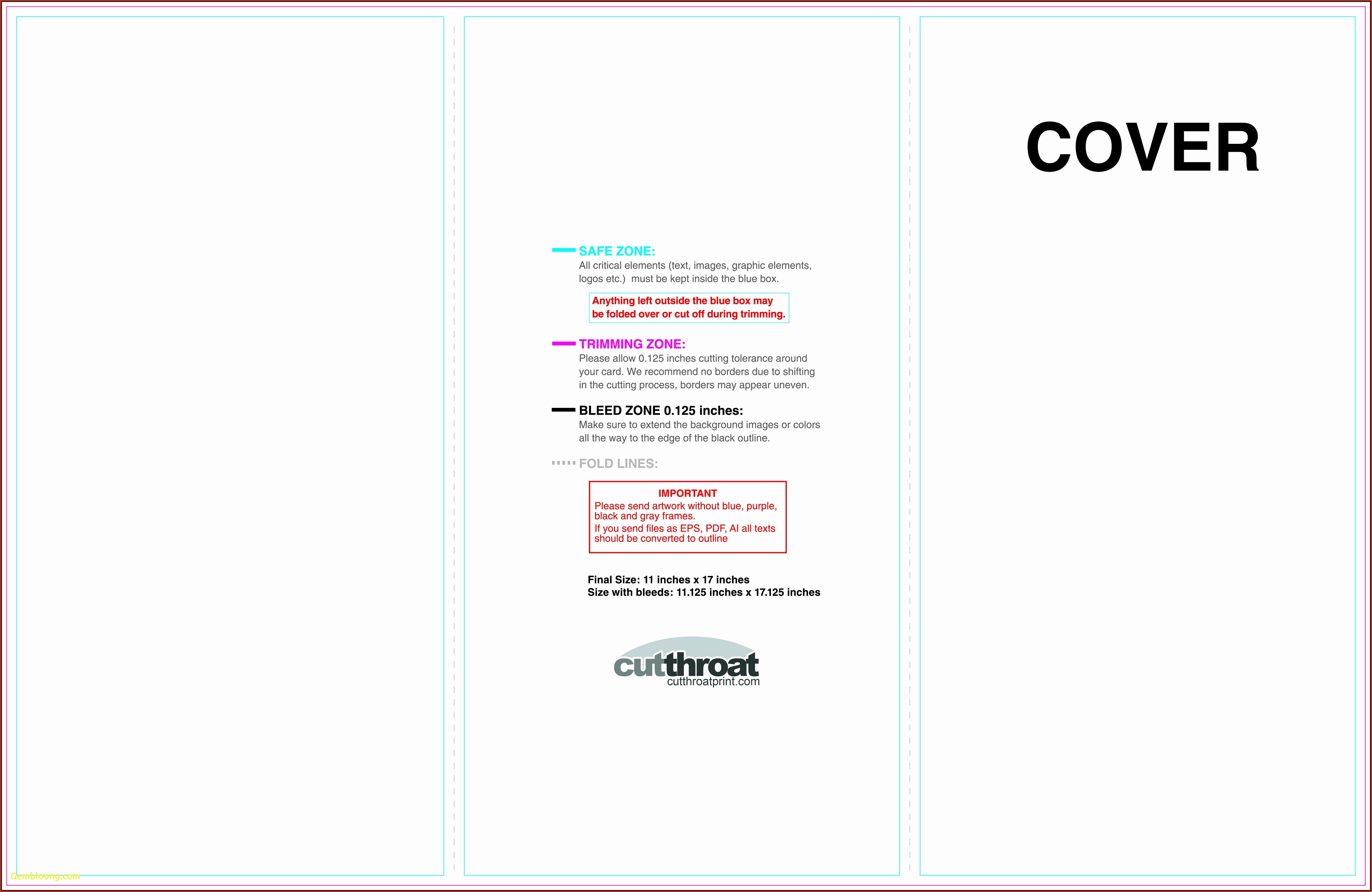 11x17 Folded Brochure Template