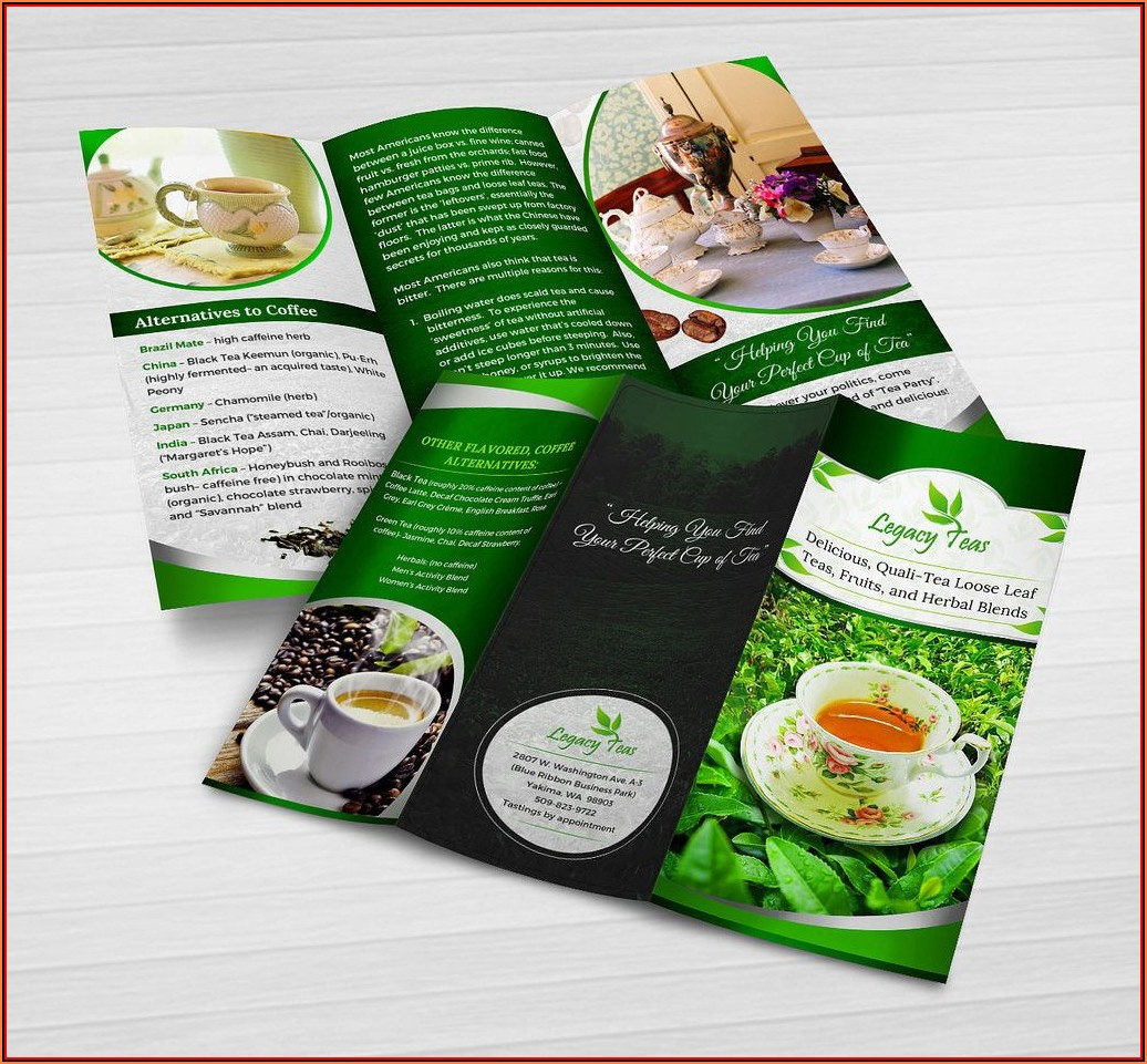 Free Blank Tri Fold Brochure Templates For Microsoft Word