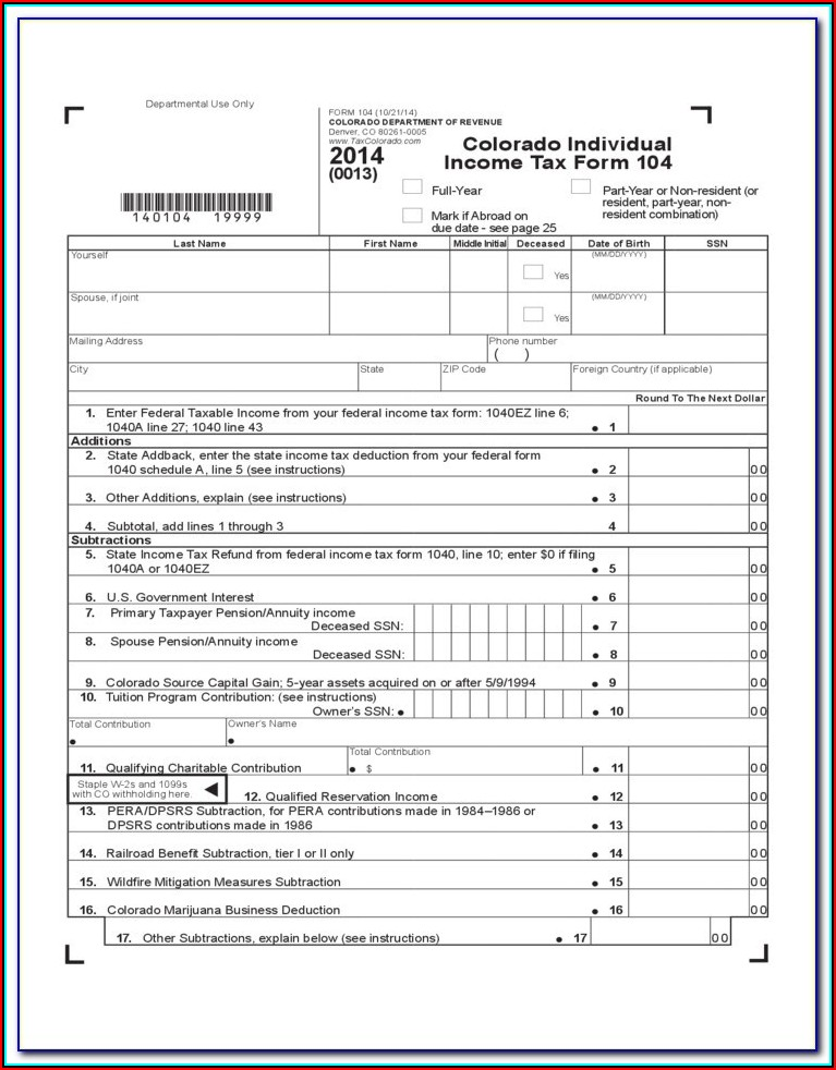 2014 Nys Income Tax Forms