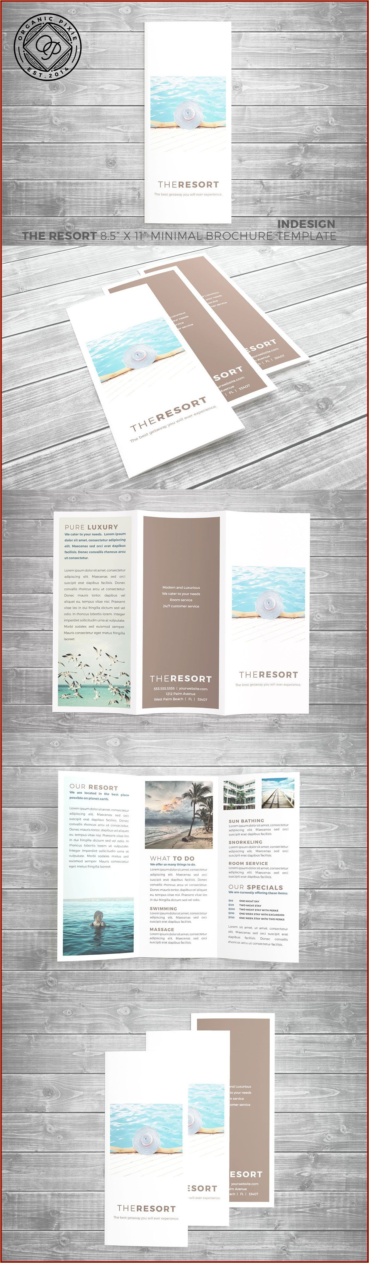 8.5 X 11 Tri Fold Brochure Template Indesign