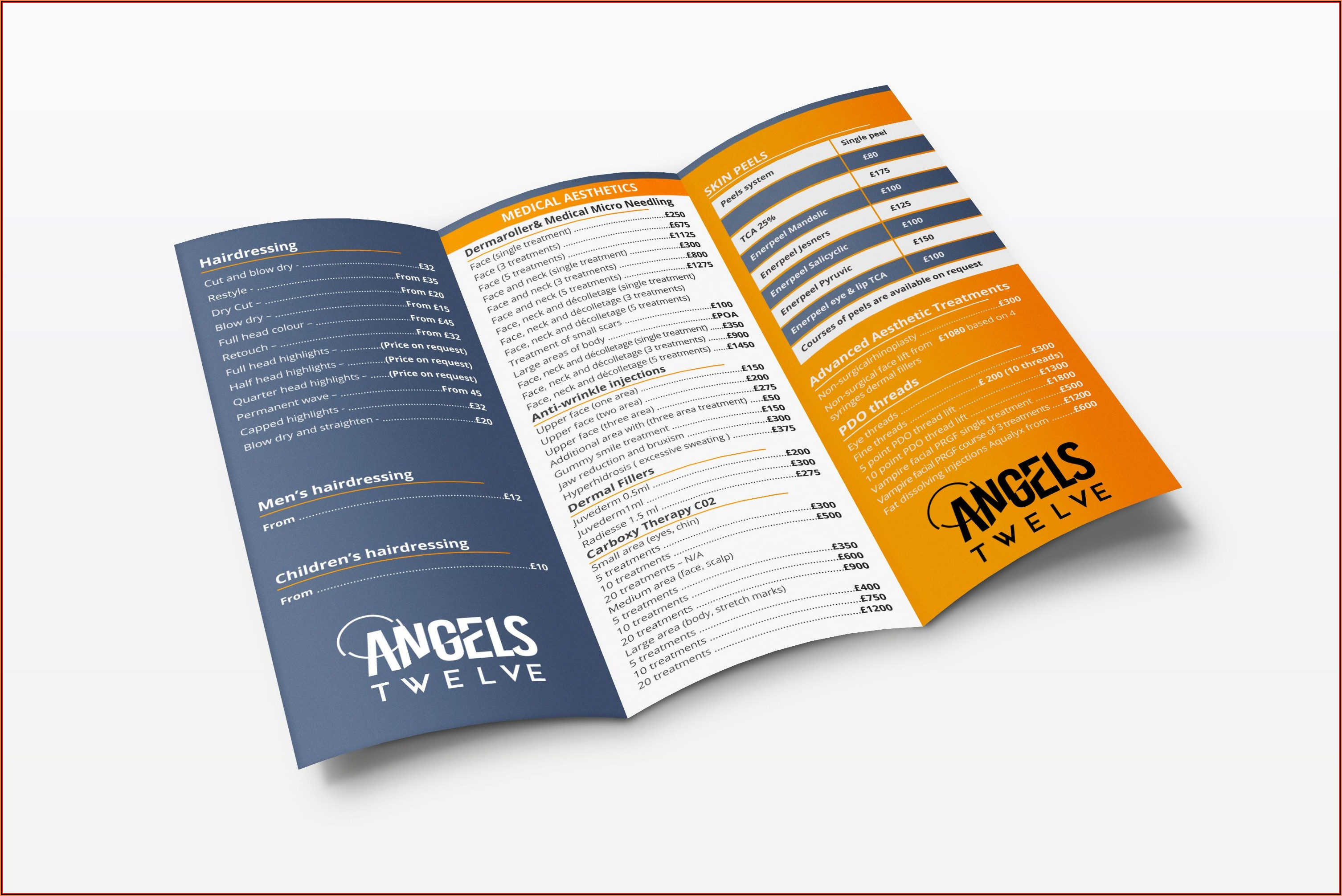 8.5 X 11 Trifold Template Psd